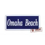 Sign, Omaha Beach, Enameled (45 x 20 cm)