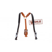Lightweight Leather Y-straps, (Black)