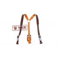 Lightweight Leather Y-straps, (Brown)