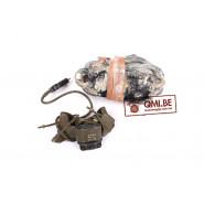 Original US WW2, T-45 Lip Microphone + Push-To-Talk Switch SW-141-V (Leather Neck Lanyard)