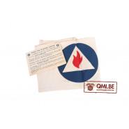 Original US WW2, Civil Defense Fire Watchers Armband