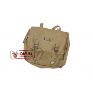 Original US WW2 M36 Musette Bag Rubberised (1942, LANGDON TENT & AWNING CO.)