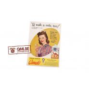 """Orig. WW2 advertisement """"Camel, I'd Walk a mile, too!"""""""