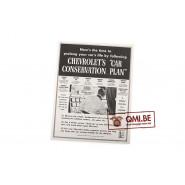 "Orig. WW2 ad. ""Chevrolet's, Car Conservation plan"""