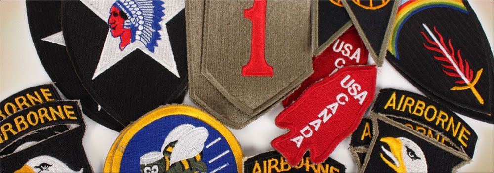 Qmi insignias slide, us airborn, the stars and stripes, us army