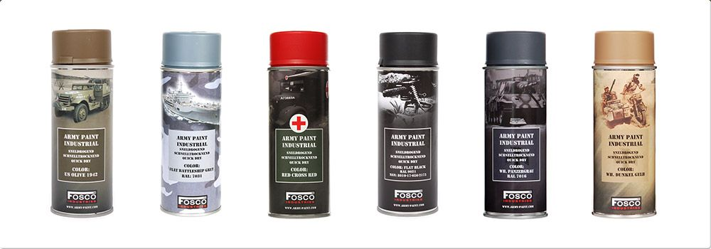 Fosco Industrial Army Paint Spray cans